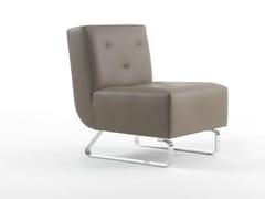 - Sled base upholstered polyurethane armchair BAY   Armchair - Giulio Marelli Italia