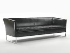- Sled base leather sofa DAMA | Leather sofa - Giulio Marelli Italia
