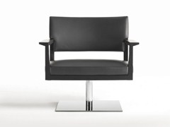 - Swivel upholstered armchair with armrests REGIS | Swivel armchair - Giulio Marelli Italia