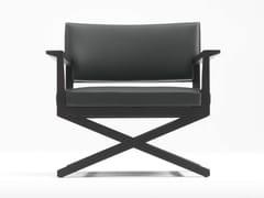 - Upholstered oak armchair with armrests REGIS | Armchair - Giulio Marelli Italia