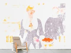 - Panoramic non-woven paper wallpaper BAL AUX FOLIES BERGÈRES - Moustache