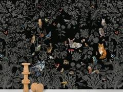- Panoramic non-woven paper wallpaper FORÈT NOIRE - Moustache