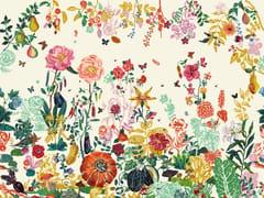 - Wallpaper with floral pattern JARDIN CREME - Moustache