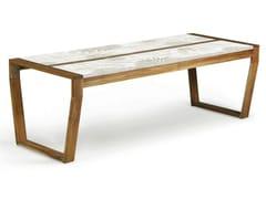 - Rectangular wooden garden table OSCAR COLOR - Lgtek Outdoor