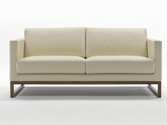 - Sled base leather sofa WOOD | Leather sofa - Giulio Marelli Italia