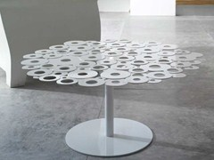 - Round galvanized plate coffee table CENTRINO | Coffee table - Matrix International