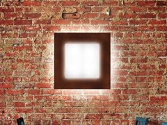 - Fluorescent PMMA wall light CUBO FLAT 500 | Wall light - Lombardo