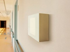 - LED glass and aluminium wall light STILE NEXT 506E - Lombardo