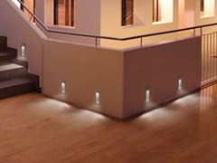 - LED screen printed glass foot- and walkover light STILE NEXT 506L ASIMMETRICO - Lombardo