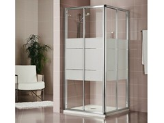 - Crystal shower cabin with sliding door DUKESSA 3000 - DUKA