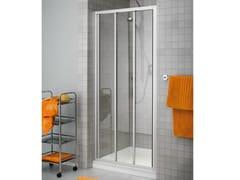 Box doccia a nicchia con porte a soffietto prima 2000 collezione quadra by duka - Box doccia pentagonale ...