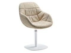 - Swivel upholstered easy chair with removable cover EVA 2269/R - Zanotta
