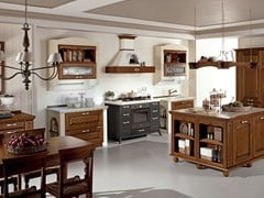 - Chestnut kitchen with island VERONICA | Kitchen with handles - Cucine Lube