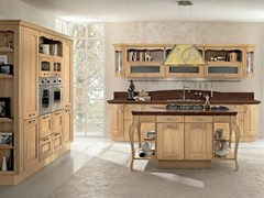 - Chestnut kitchen with island VERONICA | Wooden kitchen - Cucine Lube