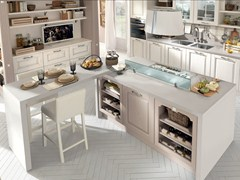 - Wooden kitchen with island with handles LAURA | Kitchen - Cucine Lube