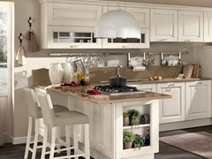 - Wooden kitchen with handles LAURA | Kitchen with handles - Cucine Lube