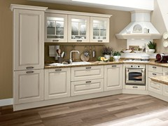 - Wooden kitchen with handles LAURA | Wooden kitchen - Cucine Lube