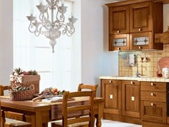 - Walnut kitchen with handles LAURA | Walnut kitchen - Cucine Lube