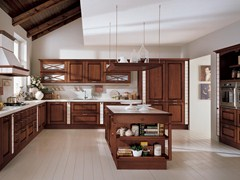 - Solid wood kitchen with island AGNESE | Kitchen with island - Cucine Lube