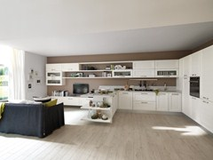 - Ash kitchen with handles CLAUDIA | Wooden kitchen - Cucine Lube