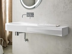- Korakril™ washbasin with integrated countertop BOMA | Washbasin with integrated countertop - Rexa Design
