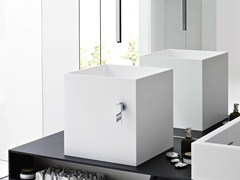 - Countertop Korakril™ washbasin UNICO | Countertop washbasin - Rexa Design