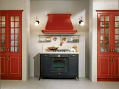 - Lacquered MDF kitchen with handles VELIA LACCATA | Kitchen - Cucine Lube
