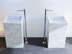 - Freestanding Carrara marble washbasin UNICO | Carrara marble washbasin - Rexa Design