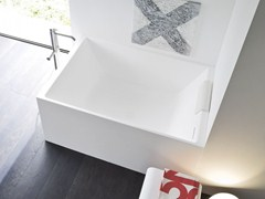 - Rectangular Korakril™ bathtub UNICO MINI - Rexa Design