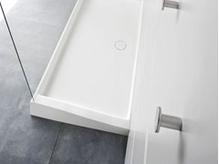 - Rectangular Corian® shower tray WARP | Shower tray - Rexa Design