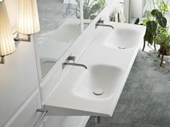 - Double wall-mounted washbasin WARP | Double washbasin - Rexa Design