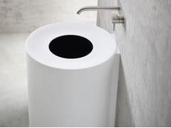 - Round wall-mounted Korakril™ washbasin HOLE | Wall-mounted washbasin - Rexa Design
