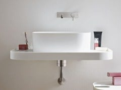 - Design wall-mounted Corian® washbasin FONTE | Wall-mounted washbasin - Rexa Design
