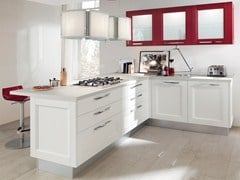 - Solid wood fitted kitchen with handles GEORGIA | Solid wood kitchen - Cucine Lube