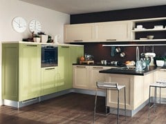 - Solid wood kitchen with handles GEORGIA | Kitchen with handles - Cucine Lube
