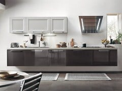 Solid wood kitchen with handles GEORGIA | Lacquered kitchen - Cucine Lube