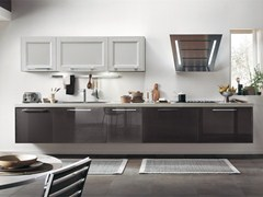 - Solid wood kitchen with handles GEORGIA | Lacquered kitchen - Cucine Lube