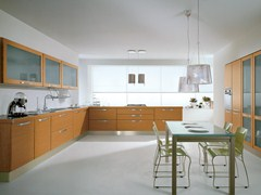 - Wood veneer fitted kitchen KATIA | Kitchen - Cucine Lube