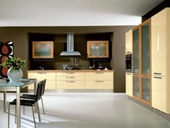 - Lacquered wooden fitted kitchen with handles KATIA | Lacquered kitchen - Cucine Lube