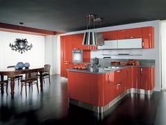 - Ergonomic lacquered wooden fitted kitchen KATIA | Ergonomic kitchen - Cucine Lube