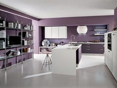 Fitted kitchen with island LEDA | Kitchen with island - Cucine Lube