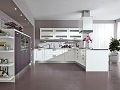 Fitted kitchen with handles LEDA | Fitted kitchen - Cucine Lube