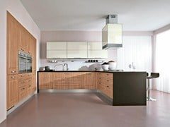 MDF fitted kitchen with handles LEDA | MDF kitchen - Cucine Lube