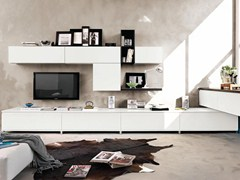 - Sectional wall-mounted storage wall LINDA | Storage wall - Cucine Lube