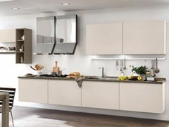 Wooden fitted kitchen without handles LINDA | Wall-mounted kitchen - Cucine Lube