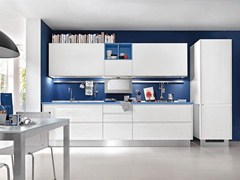 Wooden kitchen without handles LINDA | Kitchen without handles - Cucine Lube