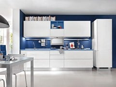 - Wooden kitchen without handles LINDA | Kitchen without handles - Cucine Lube