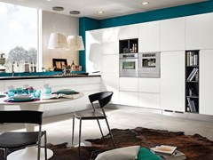 - Wooden fitted kitchen without handles LINDA | Kitchen - Cucine Lube