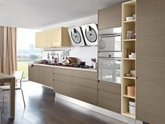 - Wooden fitted kitchen LINDA | Wooden kitchen - Cucine Lube