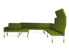 - Sectional high-back fabric sofa REFORM 3 - Johanson Design